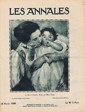 Les annales n°2225 du 14/02/1926 Cassat Willette Freycinet Émile Picart Prévost
