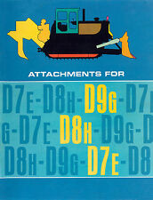 Caterpillar D7E D8H D9G Attachment Sales Brochure 1970s