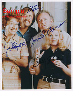 ALL IN THE FAMILY Archie Bunker Cast Signed Autographed Reprint 8x10 Photo #1