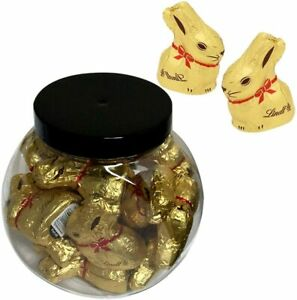 15 X LINDT GOLD MINI BUNNY MILK CHOCOLATE 10G WITH BOTTLE