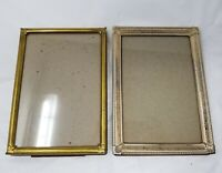 Lot of 2  vintage metal picture frames 5x7""