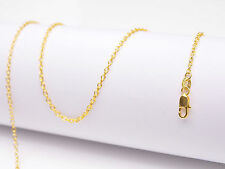 "1PCS Wholesale 22"" nice 18K Yellow GOLD Filled Rolo CHAIN NECKLACES For Pendant"