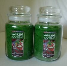 2 Yankee Candle 22 oz Cool Christmas Mint Festive Scent Free Shipping