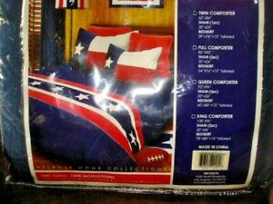 Texas Flag ,colors  Comforter + sham twin size + dust ruffle