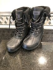 Kid's UGG Butte II black boots- size 5- #1098890
