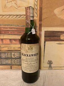 Whisky Black&White anni 60 Imp.Amerigo Sagna 40% 75cl