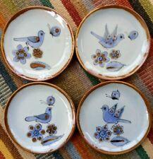 "El Palomar Bread & Butter Plates (4) Ken Edwards Pottery Tonala Mexico 6 1/2 """