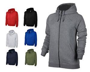 Mens Full Zip Hoodie Sweatshirt Jacket Size S to 4XL SPORTS CASUAL WORK LEISURE