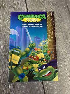 1991 Cowabunga Comics TMNT Benefit Book Ninja Turtle! Rare X2 SIGNED!!!! VF+ 8.5