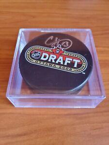 Cam Atkinson Columbus Fanatics Authentic Autographed 2008 NHL Draft Logo Puck
