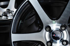 "15"" Wheels Rims Black 4x100 Fit Spark Fiat 124 Accord Civic Accent Miata Cooper"