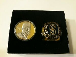 Ken Griffey Jr Highland Mint 24 Kt Gold Plated Coin + Commemorative Ring # /2500