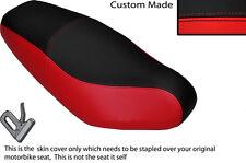 DESIGN 2 RED & BLACK VINYL CUSTOM FITS GILERA RUNNER FX VX R 98-06 SEAT COVER