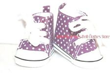 High Top Purple Polka Dot Sneakers Fit's 18 in American Girl Doll Clothes