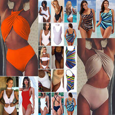 Hot Womens Swim Costume Padded Swimsuit Monokini Swimwear Push Up Bikini Sets UK