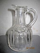 Vintage Clear glass thumbprint paneled cruet b133
