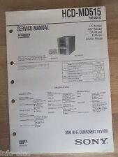 Schema SONY - Service Manual Mini Hifi Component System HCD-MD515 HCDMD515