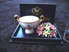 Porcelain Planter Bowl & Flower Arrangement Miniature Dollhouse D27 Reutter
