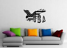 Wall Stickers Vinyl Decal Eagle United States Of America USA Patriot Flag ig1635