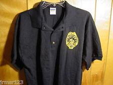 NPD- NEWARK POLICE SUPERIOR OFFICERS ASSN.-PBA FOP GOLF SHIRT S - XL-  Navy Blue