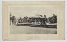 (w12c38-289) Bandstand, Eden Garden, Kolkata, CALCUTTA, India c1910 Unused VG+
