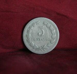 5 Centavos El Salvador 1925 World Coin KM129 Francisco Morazan Central America