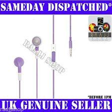 Púrpura Auriculares Auriculares Manos Libres + Volumen + Micrófono Para Iphone 3gs 4 4s 5 Ipad