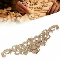 Wood Carved Corner Onlay Applique Unpainted Frame Decal Furniture Home Hot J4E0