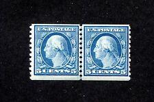 US 496, 1919 5c WASHINGTON, LINE PAIR, MNH   (US191)
