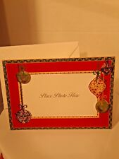 """Punch Studio 18 Christmas Die-Cut Photo Cards & Envelopes """"Seasons Greetings"""""""