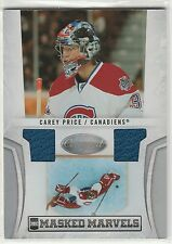 2010-11 Certified Masked Marvels Materials #19 Carey Price 18/99 dual jersey