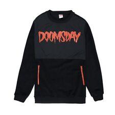 felpa girocollo DOOMSDAY logo pile crewneck NUOVO black skate sur rap