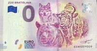 BILLET 0 EURO TOURISTIQUE  ZOO DE BRATISLAVA SLOVAQUIE 2018  N° 9009