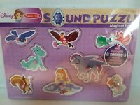 Disney Melissa & Doug Sound Puzzle Sofia The First Magical Friends Wood NEW