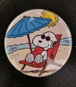 Snoopy Chilling in the Sun - Fridge Magnet - 58mm diameter