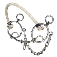 """Tough-1 Combination Bit with Rope Nose and Snaffle Gag Action - 5"""""""
