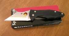 SPYDERCO New Black G-10 Handle Yojimbo 2 Plain Edge CPM-S30V Blade Knife/Knives
