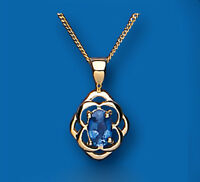 Gold Sapphire Pendant Yellow Gold Necklace Kanchan Sapphire