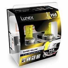 H4 Lampadine per fari Lunex SUPER YELLOW 12V 60/55W 2300K P43t Twin