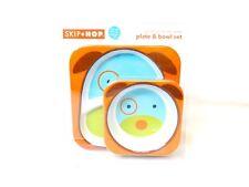 Skip Hop Zoo Plate & Bowl Set Zoo Melamine BPA, PVC, & Phthalate-Free Brand New