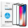 iPhone X 3D Full Coverage Screen Protector [2-Pack] - Edge Tempered Glass Film