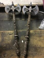 More details for pair of decorative medieval style metal axes