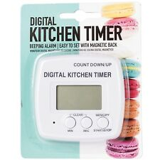 Digital Magnetic Kitchen Timer Alarm Beeper Counter Up Down Easy Use Interface