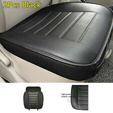 New Car Seat Cover Front Seat Breathable Protector Cushion 2X Black PU Leather