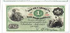 1873 $1 The South Carolina Railroad SUPERB GEM UNCIRCULATED- OBSOLETE