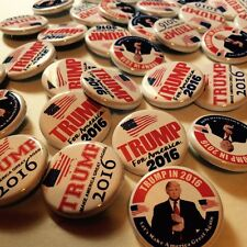 """25 Donald Trump PINBACK BUTTONS for president 2016 pins badges 1.25"""" assorted"""