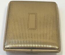 Vintage Evans Brass Gold Tone Cigarette Case No Monogram 3x4 Dent