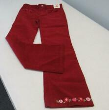 Gymboree COZY OWL Red Cordury Pants Flowers on Cuff Size 10 NWT TL54
