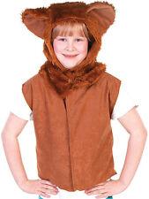 Kids Lion Child New Fancy Dress Costume & Hood Book Week Cat Tabard Wizard of Oz