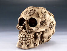 Collectible SKULL WITH CROSSBONES Handpainted Resin Statue HALLOWEEN PIRATE